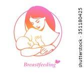 breastfeeding symbol colorful