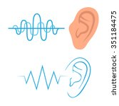 vector icon  ear listen sound ... | Shutterstock .eps vector #351184475