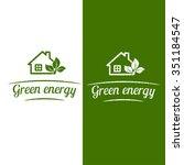 green energy  eco house design. ... | Shutterstock .eps vector #351184547