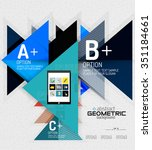 abstract info banner with... | Shutterstock .eps vector #351184661