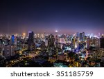 cityscape view in the night  ... | Shutterstock . vector #351185759