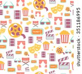 seamless pattern with retro... | Shutterstock .eps vector #351186995