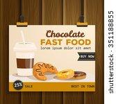 fast food vector illustration.  ... | Shutterstock .eps vector #351188855
