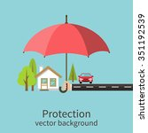 concept of security of property ... | Shutterstock .eps vector #351192539