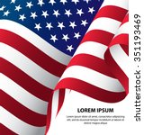 the usa waving flag background  ... | Shutterstock .eps vector #351193469