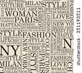 style and fashion word cloud... | Shutterstock .eps vector #351193511