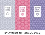 vector set of templates... | Shutterstock .eps vector #351201419