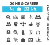hr  career  job  icons  signs... | Shutterstock .eps vector #351204965
