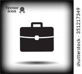 briefcase icon  vector... | Shutterstock .eps vector #351217349