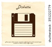Diskette On Old Paper...