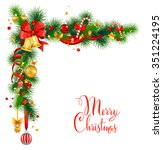 christmas decorations with... | Shutterstock .eps vector #351224195