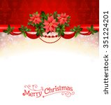 holiday background with... | Shutterstock .eps vector #351224201