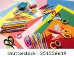 arts and craft supplies.... | Shutterstock . vector #351226619