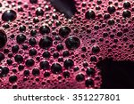 red wine from good grapes is... | Shutterstock . vector #351227801