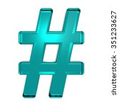 number mark from turquoise... | Shutterstock . vector #351233627