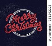 merry christmas  xmas badge ... | Shutterstock .eps vector #351242225