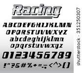 font alphabet and number vector ... | Shutterstock .eps vector #351250307