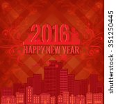 mysterious red elegant vector... | Shutterstock .eps vector #351250445