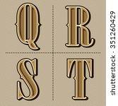 western alphabet letters... | Shutterstock .eps vector #351260429