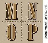 western alphabet letters... | Shutterstock .eps vector #351260441