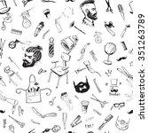 seamless pattern vintage... | Shutterstock .eps vector #351263789