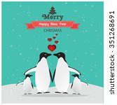 cute christmas card with... | Shutterstock .eps vector #351268691