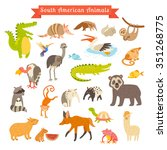 sourth america animals vector... | Shutterstock .eps vector #351268775