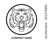 tiger logo | Shutterstock .eps vector #351276881