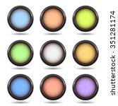 set of color buttons | Shutterstock .eps vector #351281174