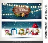 vector set of two christmas... | Shutterstock .eps vector #351282041
