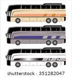 tourist bus  | Shutterstock .eps vector #351282047