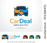 car deal logo template design... | Shutterstock .eps vector #351286451