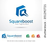 square boost logo template... | Shutterstock .eps vector #351292721