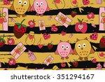 vector celebratory love pattern ... | Shutterstock .eps vector #351294167