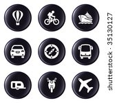 glossy button set 20   Shutterstock .eps vector #35130127