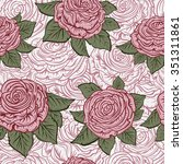vintage seamless pattern with... | Shutterstock .eps vector #351311861