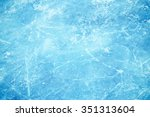 Texture of ice surface