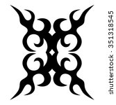 tribal tattoo vector design... | Shutterstock .eps vector #351318545
