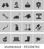 garden icon set | Shutterstock .eps vector #351336761