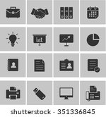 business   office icon set | Shutterstock .eps vector #351336845