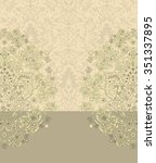 vintage invitation card with... | Shutterstock .eps vector #351337895