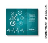 medical brochure template with... | Shutterstock .eps vector #351339821