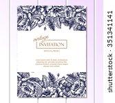 romantic invitation. wedding ... | Shutterstock .eps vector #351341141