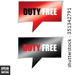 duty free speech bubbles square ... | Shutterstock .eps vector #351342791