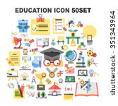 education icon set | Shutterstock .eps vector #351343964