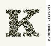 Elegant Capital Letter K In Th...