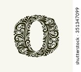 Elegant Capital Letter O In Th...