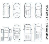 cars icon set in thin line...   Shutterstock .eps vector #351361931