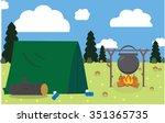 camp vector | Shutterstock .eps vector #351365735