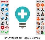 healh care bulb vector icon....   Shutterstock .eps vector #351365981